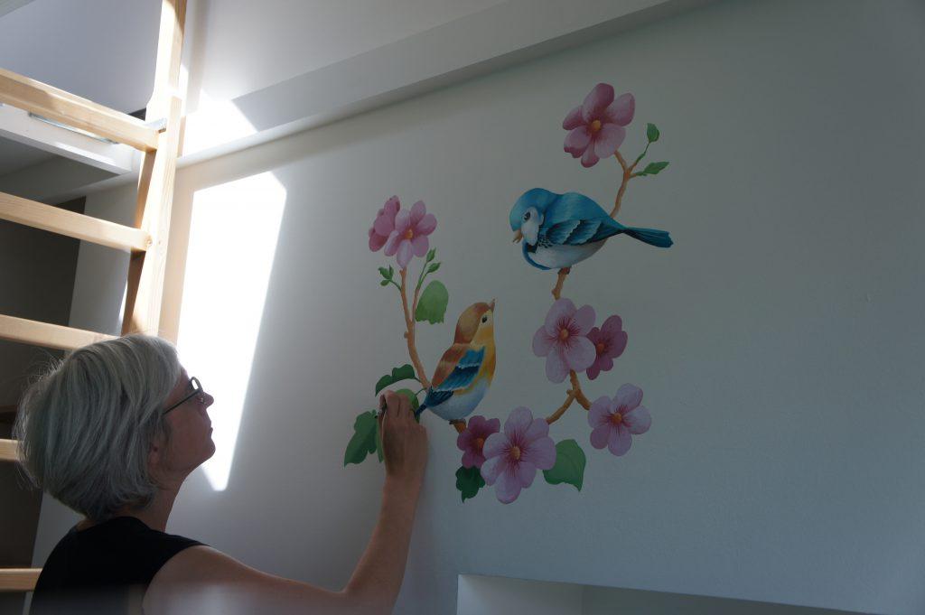 Muurschildering Karin Moons