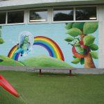 Muurschildering afd. Rups, kleuterschool